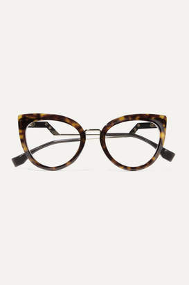 Fendi Cat-eye Tortoiseshell Acetate And Gold-tone Optical Glasses