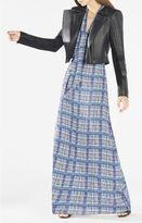 BCBGMAXAZRIA Alicha Tie-Neck Plaid Dress