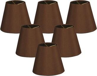 """Alcott Hillâ® 6"""" Silk Empire Lamp Shade Alcott HillA Color: Brown"""
