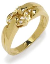 Tatitoto Gioie Women's Ring in 18k Gold with Diamond H/SI (total diamonds 0.04 ct), Size 6, 5.8 Grams