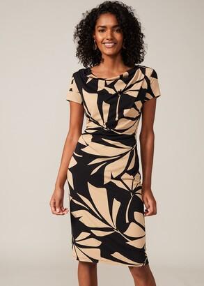 Phase Eight Kadia Palm Print Jersey Dress