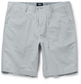 HUGO BOSS Striped Stretch-Cotton Shorts