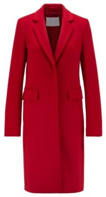 HUGO BOSS Formal Coat In Italian Virgin Wool With Cashmere - Red