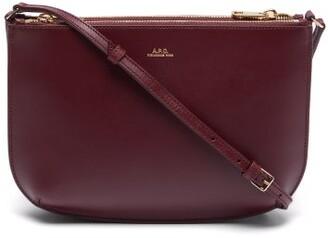 A.P.C. Sarah Leather Cross-body Bag - Burgundy