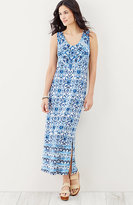 J. Jill Tile-Print Knit Dress