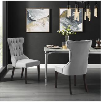 INSPIRED HOME Set Of 2 Morgan Velvet Dining Chair