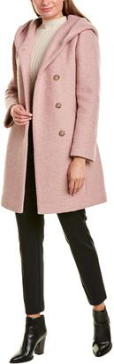 Cole Haan Asymmetrical Wool-Blend Coat