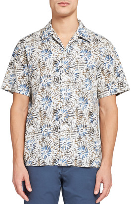Theory Men's Weldon Sketched Floral Shirt