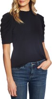 CECE Puff Sleeve Crepe Top (4 colors)