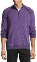 Robert Graham Jovanni Two-Tone Half-Zip Sweater, Heather Purple