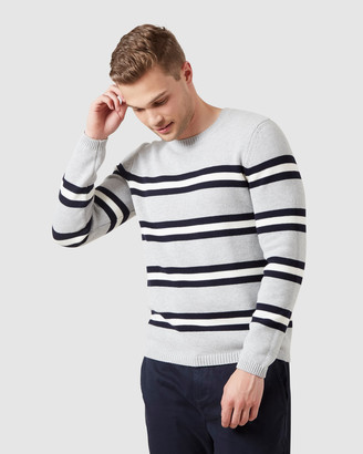 French Connection Multi Stripe Crew Knit