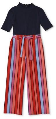 My Michelle Girls Mock Neck Jumpsuit, Sizes 4-18
