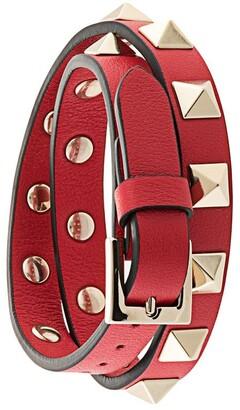 Valentino Rockstud double-strap bracelet
