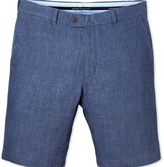 Charles Tyrwhitt Blue slim fit linen shorts