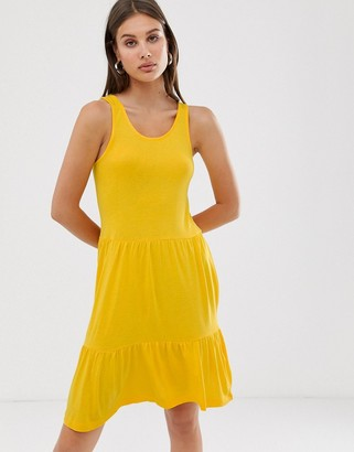 Only swing dress-Yellow