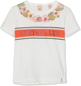 Scotch & Soda RBelle Girl's Relaxed Fit Short Sleeve Tee with Placed Artworks Sports Tank Top