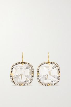 Sylva & Cie 18-karat Gold, Topaz And Diamond Earrings