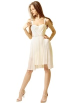 Maria Lucia Hohan Pleated Silk Tulle Dress With Lace