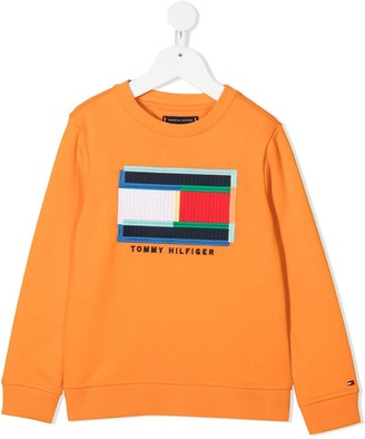 Tommy Hilfiger Junior Embroidered-Logo Sweatshirt