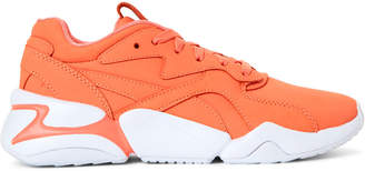 Puma Living Coral & White Nova X Pantone Low-Top Sneakers
