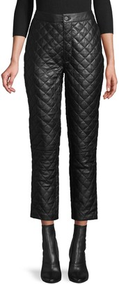 Frame Quilted Leather Pants
