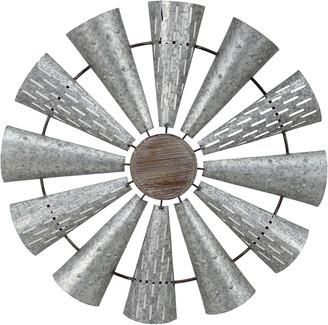 Sagebrook Home Metal Windmill Wall Decor