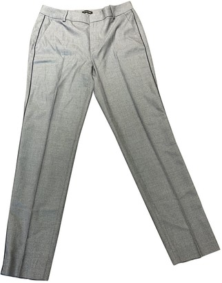Massimo Dutti Grey Cloth Trousers for Women