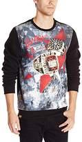 Akademiks Men's Chips Crew Neck Pullover Shirt