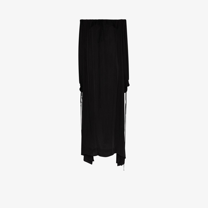 BONDI BORN Eternal Off-The-Shoulder Maxi Dress