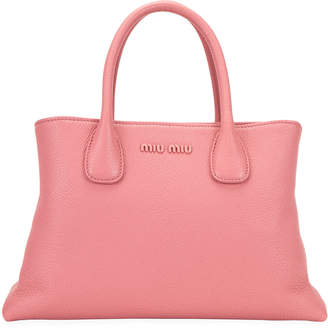 Miu Miu Madras Small Goat Leather Shoulder Bag