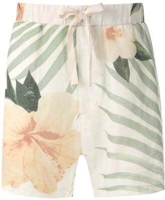 OSKLEN Side Pockets Printed Shorts