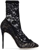 Dolce & Gabbana Black 105 Lace Ankle Boots