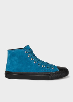 Women's Petrol Blue Suede 'Carver' Trainers