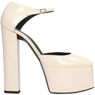 Giuseppe Zanotti Bebe Sandals In White Patent Leather