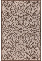 """3.1 Phillip Lim Haggerty Filigree Textured Weave Taupe Indoor/Outdoor Area Rug Winston Porter Rug Size: Rectangle 3'1"""" x 5'"""