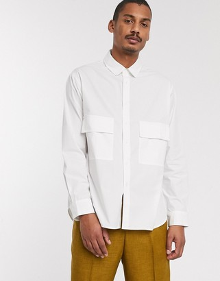 ASOS extreme oversized shirt with chest pockets