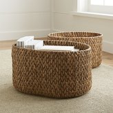 Crate & Barrel Water Hyacinth Oval Baskets