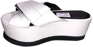 Joseph White Leather Sandals