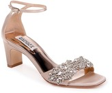 Badgley Mischka Alison Embellished Block Heel Sandal