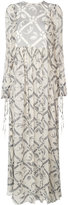 Chloé floral print flared maxi dress
