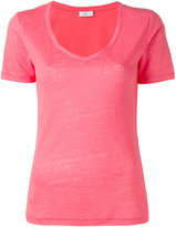 Closed v-neck T-shirt - women - Linen/Flax - S