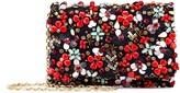 Oscar de la Renta Embroidered Satin-Twill DeDe Bag