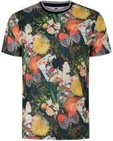 Topman Japanese Floral Print T-shirt