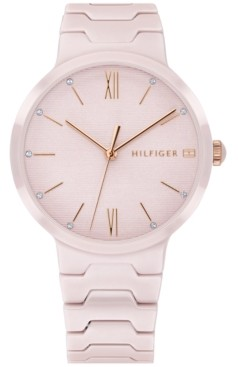 Tommy Hilfiger Women's Blush Ceramic Bracelet Watch 36mm Created for Macy's