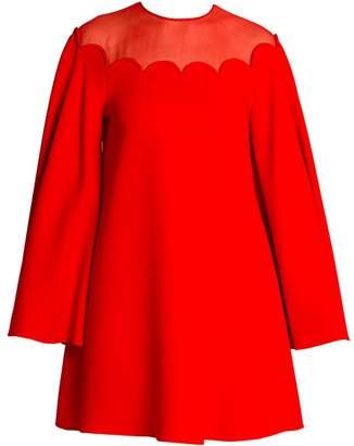 Valentino Scallop Cady Mini Dress