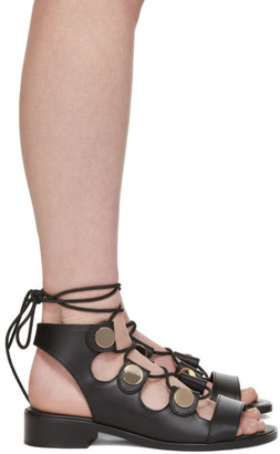 Pierre Hardy Black Penny Gladiator Sandals