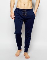 Esprit Lounge Pants With Cuffed Ankle In Regular Fit - Blue