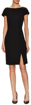 St. John Milano Boat Neck Cap Sleeve Dress W/ CDC Binding