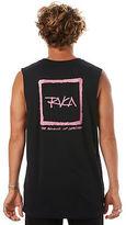 RVCA New Men's Feelin Mens Muscle Crew Neck Cotton Black