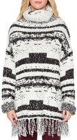 Willow & Clay Women's Patchwork Fringe Sweater